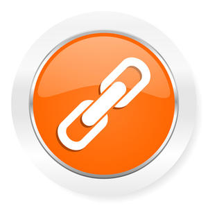 link orange computer icon